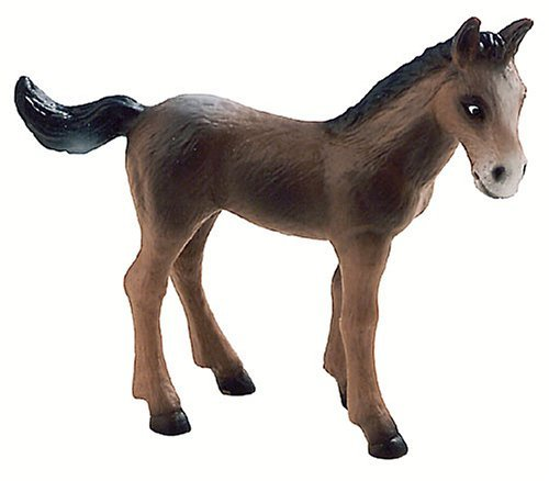 Bullyland Brown Horse Foal Toy Figure