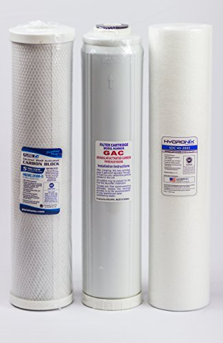 Big Blue Water Filters - Sediment/GAC/Carbon (Pack of 3) | 4.5