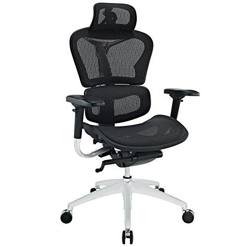LexMod Lift Mesh Ergonomic Executive Chair with Headrest, Black