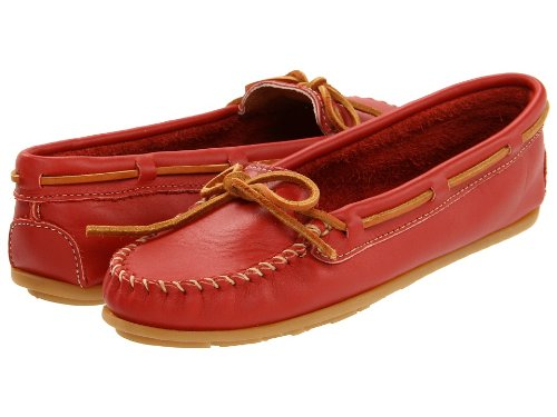 Minnetonka Women's 616 Moccasin,Red,6.5 M US