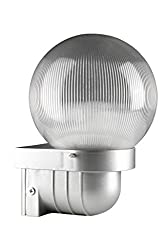 Glowmac PCL.G.150.PC.102S 150mm Prismatic Globe CFL (Pack of 2, Prismatic Diffuser/Silver Base)