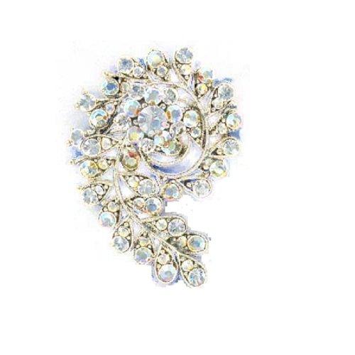 Fashion Trendy Brooch Silver #014751