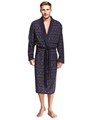 Fair Isle Fleece Thermal Dressing Gown