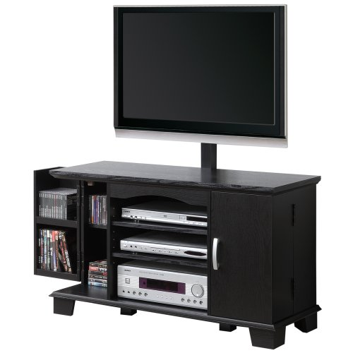 Cheap Walker Edison 42-Inch Wood TV Stand Console with Mount, Black (P42C77BL-MT)