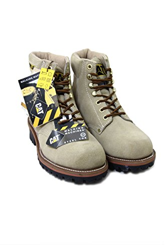 Caterpillar Suede Boots with Steel Toe Logger 6 color Stone (no box) EU43