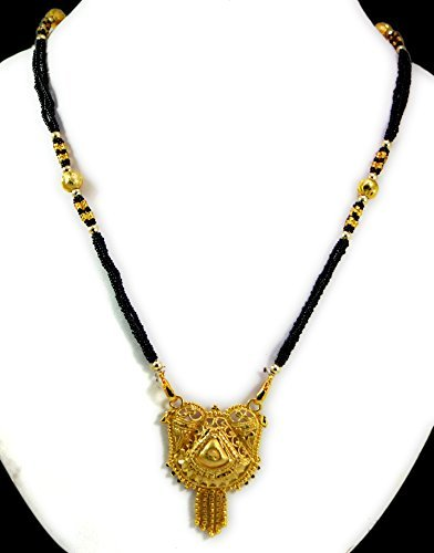 Black Beaded Pendant Married Women Mangalsutra Indian Traditional Jewellery Necklace