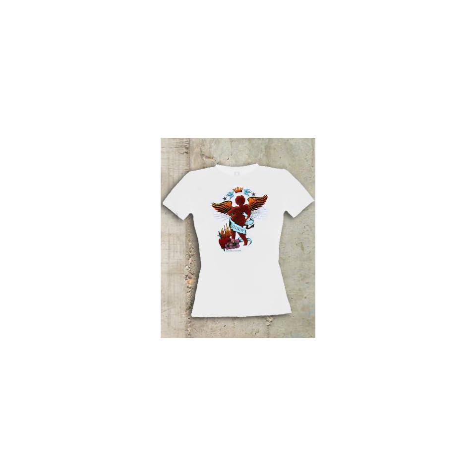 Cindy aus Marzahn Damen T Shirt Tattoo Sport & Freizeit