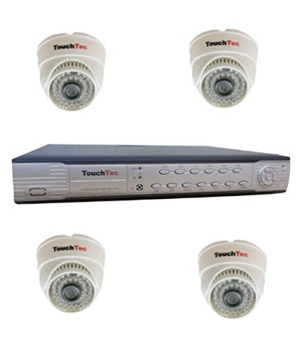 TouchTec-4-Channel-DVR+-4-Dome-IR-600-TVL-CCTV-Camera