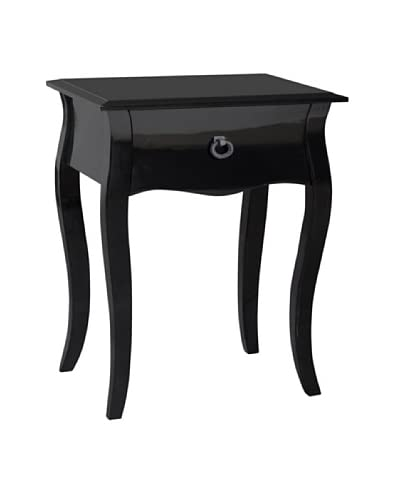Gallerie Décor Lido Single Drawer Accent Cabinet, Black