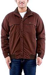 Time Option Men's Cotton Jacket (5022-Coffee_44)