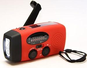 HY-88E Emergency Dynamo Solar Self Powered AM/FM/WB(NOAA) Radio w/ LED Flashlight, Cell Phone Charger w/ USB adaptors and cords