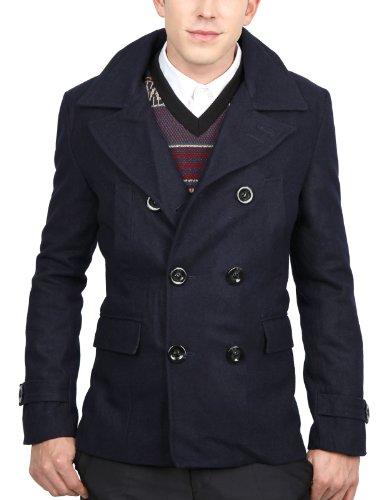 9Xis Mens Casual Wool Jacket NAVY 2XL (9MO020)