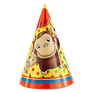 Curious George Party Hats 8ct by Unique Industries, Inc.