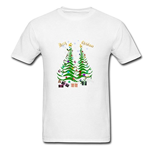 Artsy Christmas Tree And Decorations Gray Lightweight Personalized Hot Tee Men