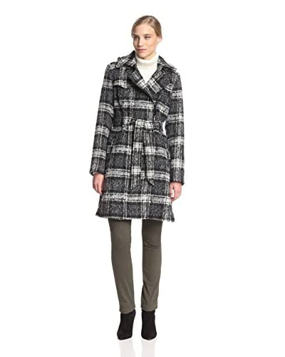 Vince Camuto Women's Belted Asymmetrical Zip Wool Coat