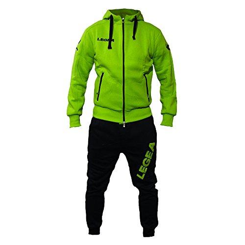 Tuta Uomo Cotone Felpato Legea Modello Harden Fitness Tracksuit By Perseo Sport (Verde/Blu, S)