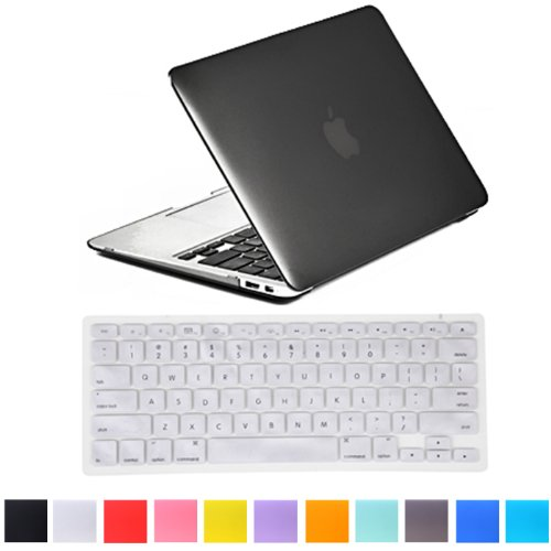 "HDE Matte Hard Shell Clip Snap-on Case + Matching Keyboard Skin for MacBook Pro 13"" (Non-Retina) - Fits Model A1278 (Gray)"