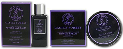 castle-forbes-lavender-essential-oil-150ml-aftershave-balm-and-200ml-shaving-cream-set-no-parabens-n