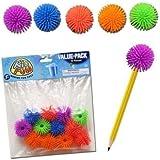 Dozen Ball Pencil Tops Fidget