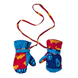 Baby Boys Fleece and Patchwork Mittens XLarge