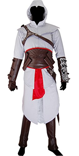 Assassins Creed Altair White Hoodie Outfit for Men