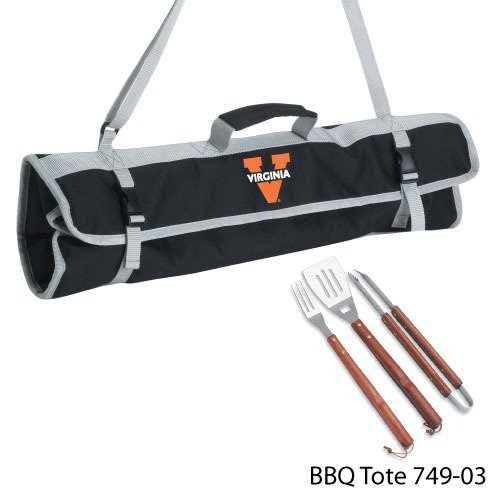 Ncaa Virginia Caveliers 3-Piece BBQ Tool Set With Tote