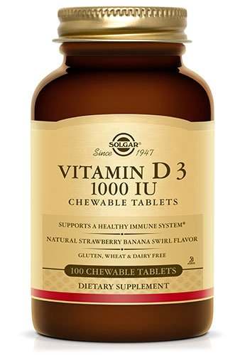 Vitamin D 3 1000 Iu Solgar 100 Chewable