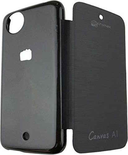 Pimlico Flip Cover for Micromax Canvas A1 Android One Mobile (Black)