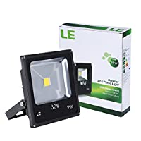 LE® 30W Outdoor LED Flood Lights, 75W HPS Bulb Equivalent, Waterproof, 1950lm, 3000K Warm White, Security Lights, Floodlight by Lighting EVER LTD