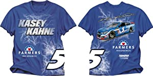 Buy Checkered Flag Kasey Kahne #5 Electric T-Shirt - Royal Blue by Checkered Flag