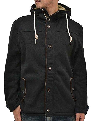 (マルカワジーンズパワージーンズバリュー) Marukawa JEANS POWER JEANS VALUE 大きいサイズ メンズ マウンテンパーカー ニット素材 裏起毛 秋 冬 2color 4L ブラック