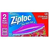 Ziploc Storage Bags Quart 48 ct (Pack Of 3)