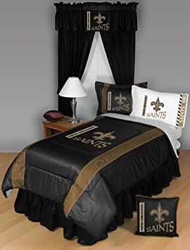Simple Bedding Collections NEW ORLEANS SAINTS QUEEN PIECE BEDDING SET Boy Football NFL bag