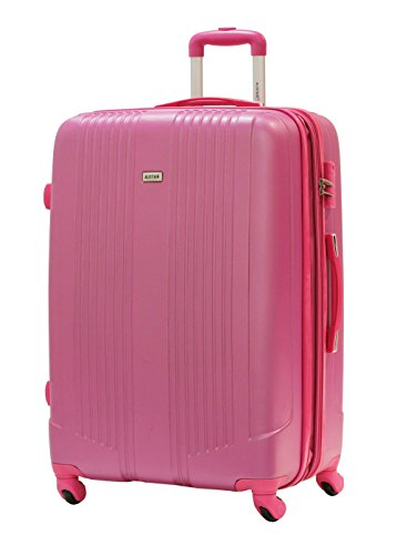 Valise Grande Taille 75cm - ALISTAIR Airo - ABS ultra Léger - 4 roues (Fushia)