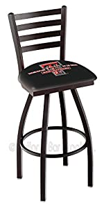 "25"" Texas Tech Counter Stool - Swivel With Black Ring and Horizontal Back"