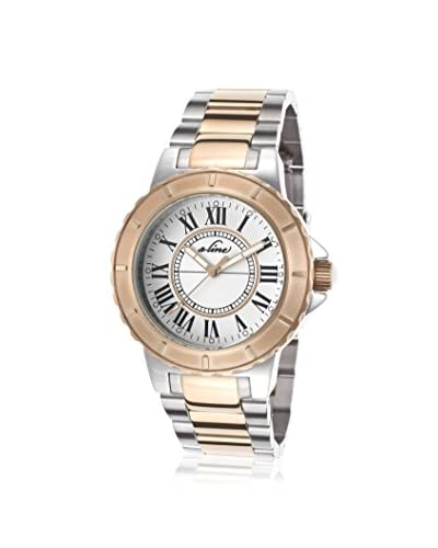 a_line Women's 20013-SR-22 Marina Silver-Tone/White Stainless Steel Watch