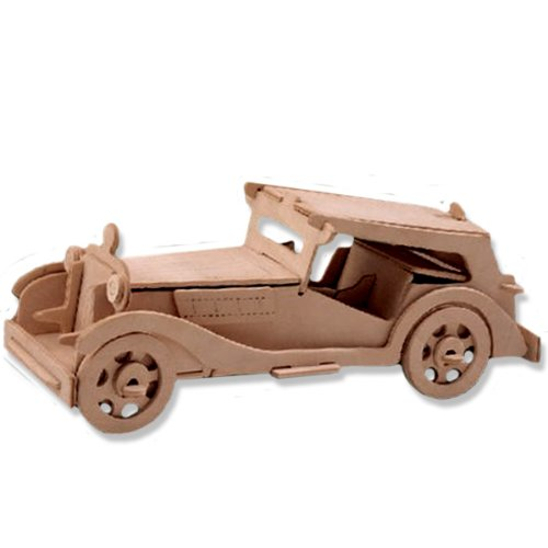 3-D Wooden Puzzle - Car Model Mgtc -Affordable Gift for your Little One! Item #DCHI-WPZ-P016