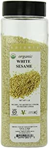 Spicely Organic Sesame Seed, White, 16 Ounce