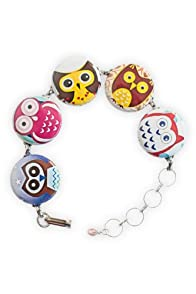 Blue Hill by Hand Owls Bubble Bracelet