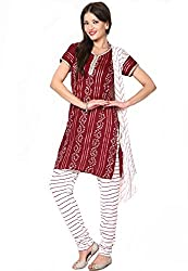 Soundarya Ethnicwear Unstitched Cotton Dress Material for Women