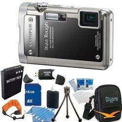 Olympus Stylus Tough 8010 Black Water/Shockproof Digital Camera 14MP, 28mm 5X Zoom, 2.7