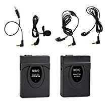 buy Movo Wmic50 2.4Ghz Wireless Lavalier Microphone System With Integrated 164-Foot Range Antenna (Includes Transmitter With Belt Clip, Receiver With Camera Shoe, Lavalier & 2 Earphones)