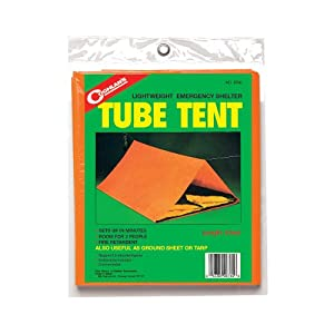 Coughlans Tube Tent: Lightweight Emergency Shelter, 8-Foot Length by Coghlans