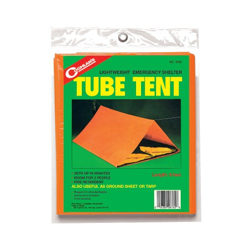 Coghlans Emergency Tube Tent, Size 8 x 5 x 2.5 (orange)
