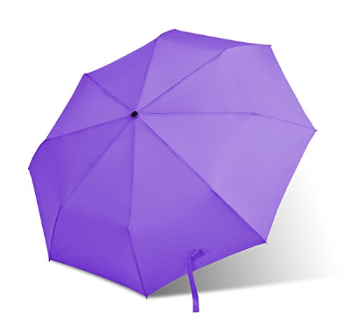 Bodyguard Auto Umbrella - Upscale and Elegant - Strong Waterproof, Windproof, Compact for Travel By Easy Carrying - Variety of Colors - Sturdy, High Quality - Lifetime Guarantee (Purple)