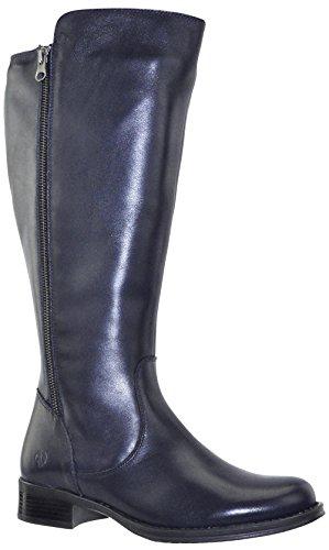 JJ Footwear Damen Stiefel Leder Tunis XXL Ozean Nappa Capri 43