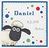 Anchor Shaun The Sheep Birth Sampler Cross Stitch Kit