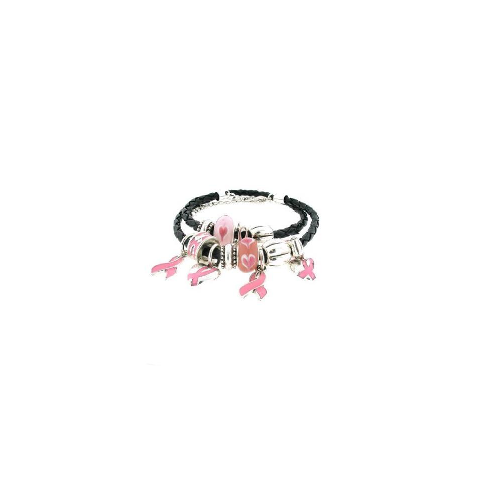 Fashion Jewelry ~ Pink Ribbon Awareness Bracelet