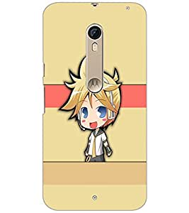 Printdhaba Cute Girl D-4201 Back Case Cover For Motorola Moto X Style