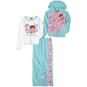 Dora the Explorer Girls 2-6x 3Piece Jacket Pant Set